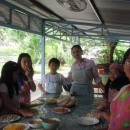 tanya teaching cooking in thailand