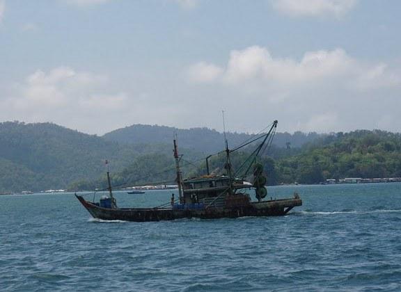 a fishing boat of Kota Kinabalu