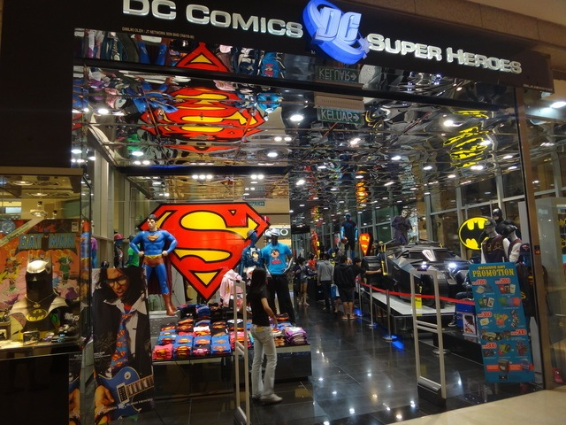 Dc comics clothing store