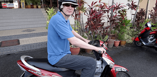 Andrew on bike Langkawi feature