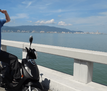 Andrew on the Penang bridge feature