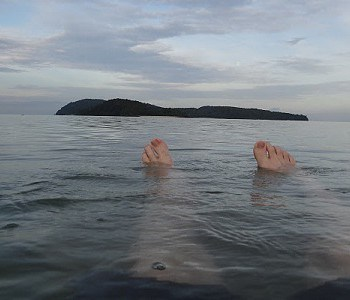 Floating in the beach at Pantai Cenang, Langkawi, Malaysia Feature