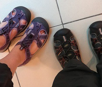 I am so glad we bought these shoes feature