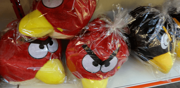 stuffed toy angry birds