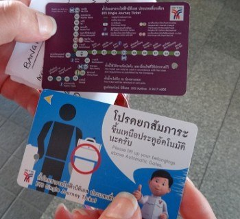 BTS Skytrain - Tickets with Map on the back