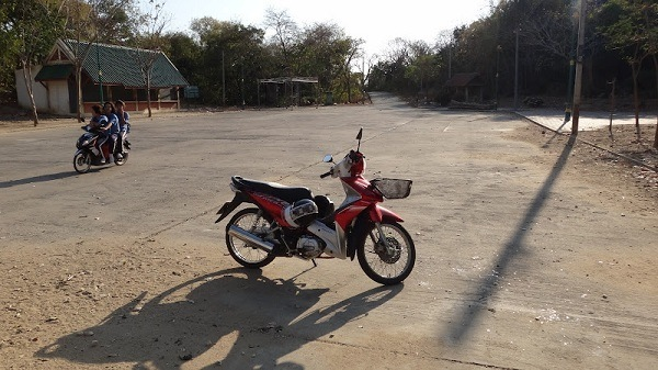 our bike at the cave parking lot Phetchaburi