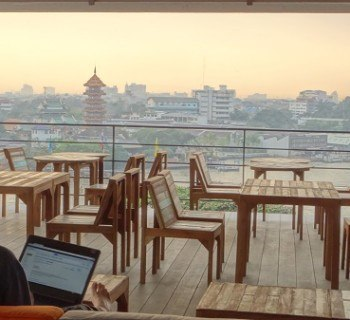 An office with a view in Bangkok