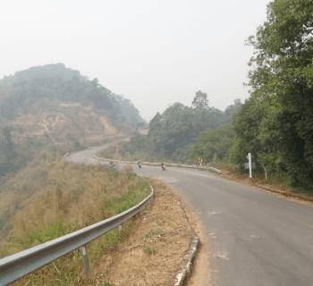 through mountains from Mae Chaem to Khun Yuam