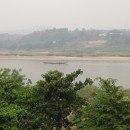 The Mekong River Dividing Huay Xai Laos from Chiang Khong Thailand