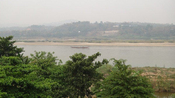 The Mekong River Dividing Huay Xai Laos from Chiang Khong Thailand