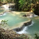 beautiful pools at Kuang Si waterfall