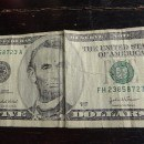 Ripped 5 USD Note