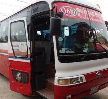 Battambang to Phnom Penh - Sorya Bus that took us from Battambang to Phnom Penh