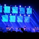 Radiohead With A Blue Background