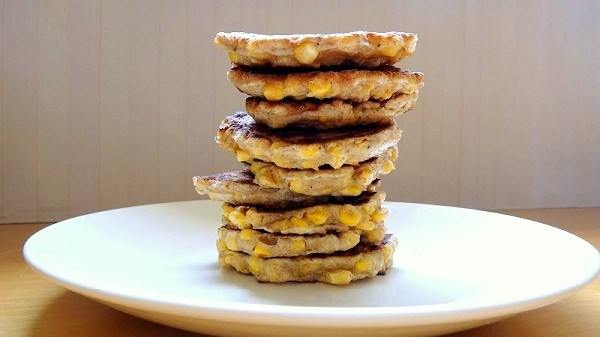 A Stack Of Corn Fritters