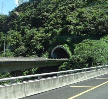 Tunnel Into The Mountains From Taichung To Sun Moon Lake