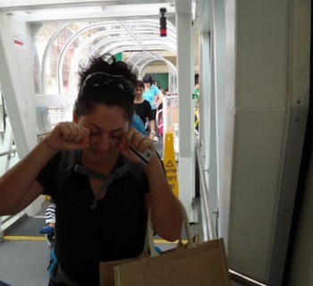 Tanya Not Wanting To Depart The Cruise Ship