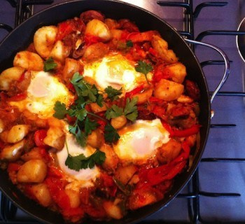 One Pan Wonder - Huevos Rancheros