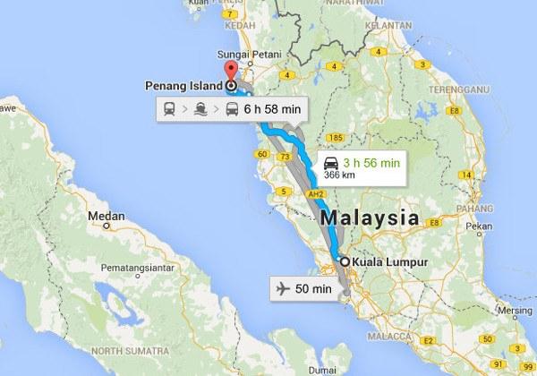 Kuala Lumpur to Penang