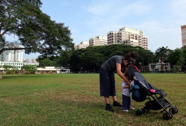 Pockit Stroller On Grass Singapore