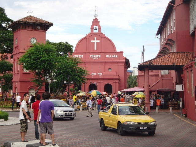 the Stadthuys, one of the places to visit in melaka