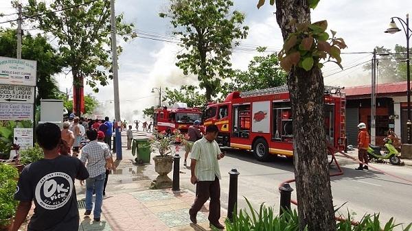 The Fire At Pantai Cenang, Langkawi, Malaysia