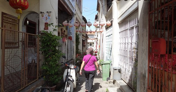 A quiet alleyway in Georgetown on Penang