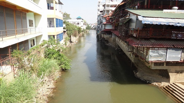 The river seperating Thailand and Myanmar