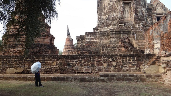 The ruins of Ayutthaya, north of Bangkok