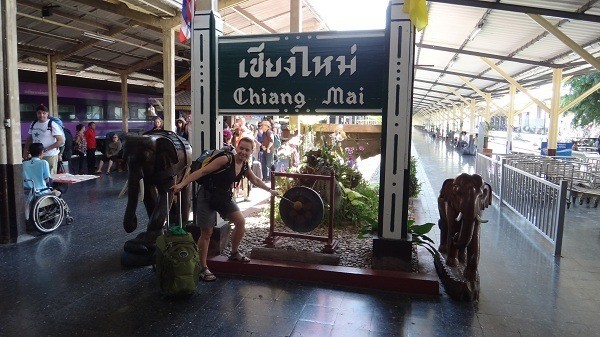 Arriving in Chiang Mai by train from Bangkok