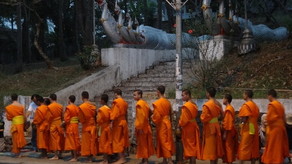 Sunrise Alms Giving In Luang Prabang
