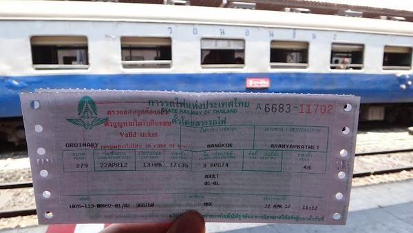 A Train Ticket From Bangkok to Aranyaprathet