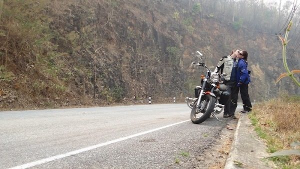 Exploring the mountains of north west Thailand by motorcycle