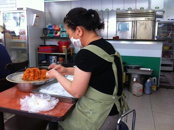 Making The Steamed Dumplings