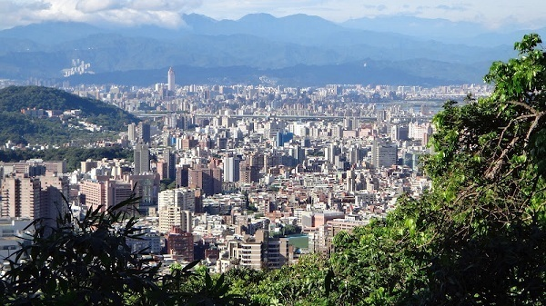 Taipei From The Hill Top Of Xiazhulin Hiking Trail