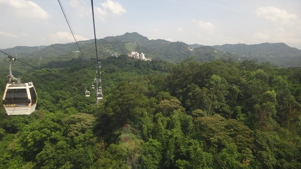 A view of the Taipei cablecar