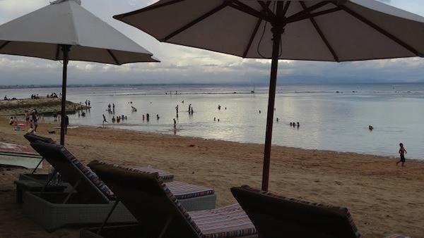 The Sun Going Down At Sanur Beach