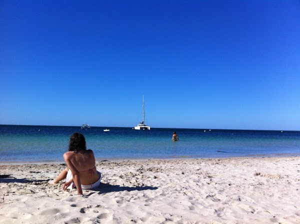A tanned relative on a West Australian beach
