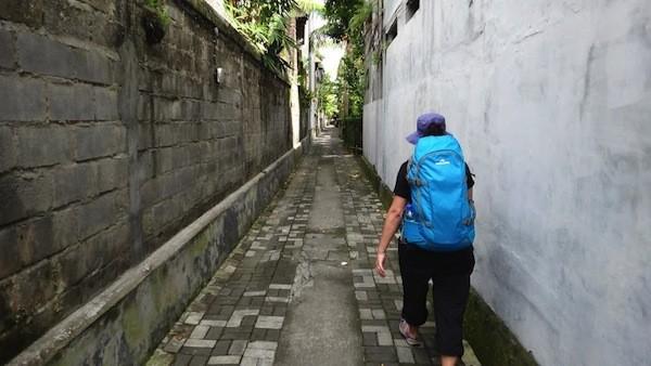 Tanya Walking Down The Alley Way In Ubud