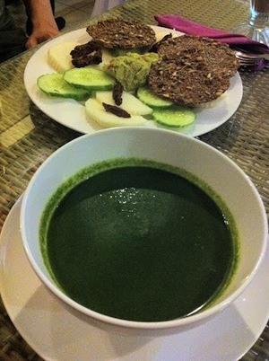 Delicious Healthy Green Food At Bali Buddha Kerobokan Bali