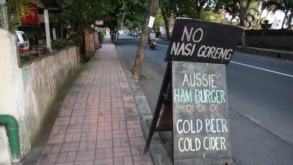 NO Nasi Goreng Just Cold Beer