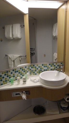 Oceanview Stateroom - Bathroom Sink Area
