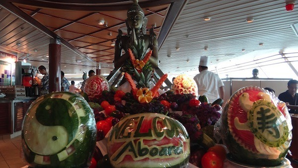 Windjammer Cafe - Welcome Aboard Fruit Art