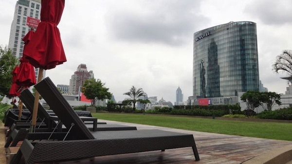 Amari Watergate Bangkok Grass Area Overlooking The Buildings