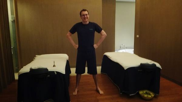 Andrew In His Short Shorts At Breeze Day Spa At The Amari Watergate In Bangkok
