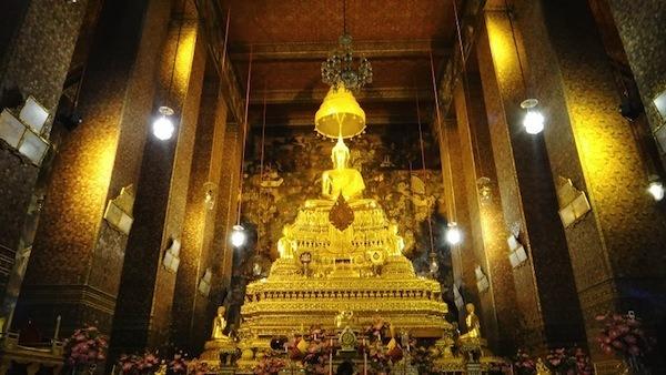 Gold Temple At Wat Pho