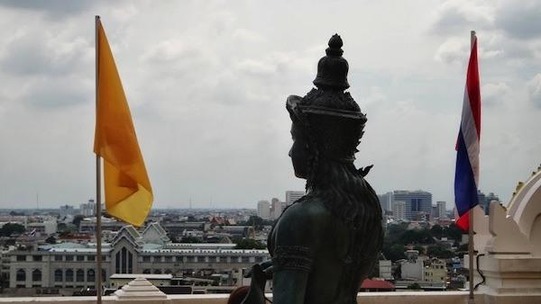Overlooking Bangkok At Wat Saket