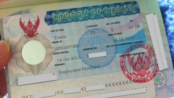 Organising Thailand Tourist Visas From Singapore