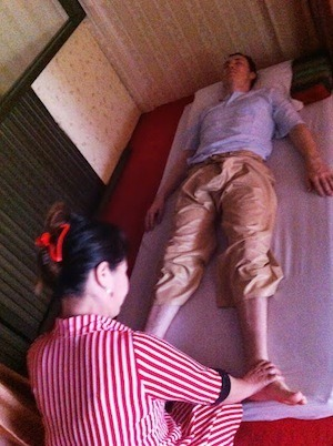Andrew Enjoying His 180 Baht Thai Massage