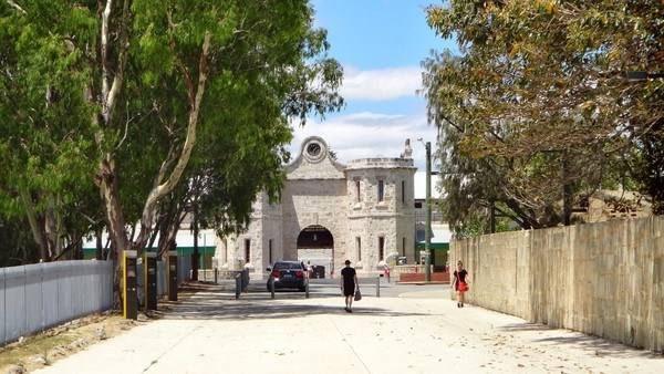 The front gates of Fremantle prison